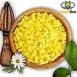 100 % reines Bienenwachs Bio - 200 g - Pure gelbe Bienenwachs Pastillen - Perfekt geeignet für Kosmetik und die Kerzen Herstellung mit der ganzen Familie