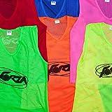 Net World Sports Trainings Netzwesten/Trainings-Leibchen/Trainingsleibchen, 5er Pack, in Vier Größen und 5 Farben (Kinder, leuchtendes Gelb)