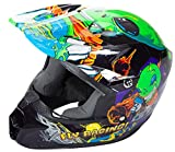 Fly Racing Kinetic Motocross/Downhill Helm Invazion Kids grün-schwarz YL