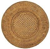 Caspari PlatzTeller, rund, aus Rattan, Rattan & Korb, Braun, 30x30x1.25 cm