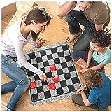 funnyfeng Giant 3-in-1 Checkers, Rug Game Mega Tic Tac Toe Mit Wendeteppich, Jumbo-Brettspiele Für Drinnen Und Draußen Für Familienspaß Und Partys