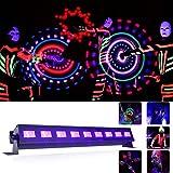 UV LED Strahler Schwarzlicht Lichteffekt Wood Lampe bühnenscheinwerfer Stimmung Bühnenbeleuchtung für party deko, Konzert ,Pub Club, 27 Watt