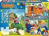 Schmidt Spiele Puzzle 56207 - Benjamin Blümchen In Aktion, 3 x 24 Teile