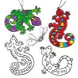 Baker Ross Suncatcher-Anhänger 'Gecko' - aus Acrylglas zum Aufhängen und Dekorieren für Kinder zum Basteln (6 Stück)