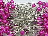 100 Perlennadeln Perlen Anstecknadeln Hochzeitsnadeln Nadel D 6mm L 65mm Pelkopf Dekonadel, Farbe:pink