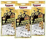 SONAX BIKE 3x Reinigungs-Tuch Pflegetuch für´s Fahrrad 40x50cm