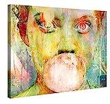 Gallery of Innovative Art Premium Leinwanddruck 100x75cm - Bubblegum Girl - Kunstdruck Von Joe Ganech
