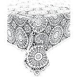KERSTEN Outdoor-Tischdecke abwischbar wetterfest 'Crochet' 150 x 264cm, Weiß