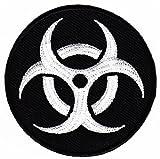 Biohazard Warnzeichen Schwarz Aufnäher Bügelbild