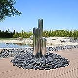 Edelstahl Element für Säulenbrunnen Gartenbrunnen Springbrunnen DIY 3 Säulen aus aufwendig poliertem Edelstahl rostfrei