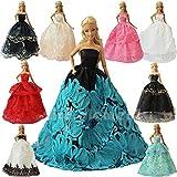 ZITA ELEMENT Los 5 Handgefertigte Mode Partykleider Kleid Outfit für Barbie Kleidung XMAS GIFT-Zufälliger Stil