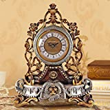 WW Tischuhr Europäischen Stil Uhr Kreative Ruhe Uhr Persönlichkeit Sitzen Uhr Wohnzimmer Große Schaukel Uhr Quarzuhr Dekorative Tischuhr,AAA