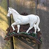Antikas - Halterung für Zügel und Stricke - Schlauchhalter Gartenschlauch Pferd Deko