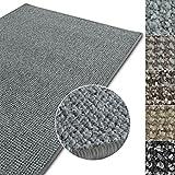 casa pura Kurzflor Teppich Carlton | Flachgewebe dezent Gemustert | robuster Schlingenteppich in vielen Größen | als Wohnzimmerteppich, Küchenteppich, Schlafzimmerteppich (Hellgrau - 300x400 cm)
