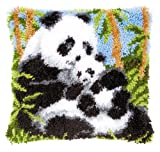 Vervaco PN-0021853 Knüpfkissen Pandas