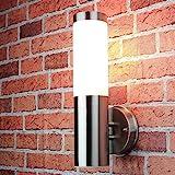 Edelstahl Wand-Außenleuchte IP44 Außenlampe Hoflampe Gartenlampe Gartenleucht...