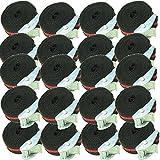 12 Stück Befestigungsriemen-Set Spanngurt, Schnellspanner, Zurrgurt,Klemschoss Gurt ideal zur Befestigung am Fahrradträger (12)