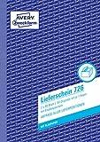 Avery Zweckform 726 Lieferscheine mit Empfangsschein, DIN A5, mit Empfangsschein, 2 x 50 Blatt, weiß, rosa