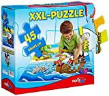 Noris Spiele 606034960 Piraten Riesenpuzzle, 45 Teile