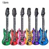12Pcs Luftgitarren Luft Gitarre Air Guitar aufblasbar musikalische Instrumente Spielzeug