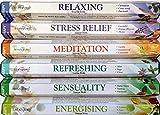 120Sticks von Stamford Premium Aromatherapie Hex Bereich Räucherstäbchen–Entspannen, Stress Relief, Meditation, erfrischende, Sinnlichkeit &, Räucherwerk Kraft Geschenk Pack.