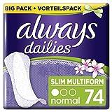Always Slipeinlagen Slim Multiform Fresh, Vorteilspack, 1er Pack (1 x 74 Stück)