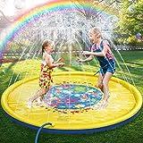 Jojoin 170CM Splash Pad & Spielzeug Sprinkler Play Matte, Wasserspielzeug Spielmatte, Summer Outdoor Garten Wesentliche lustiges Spielzeug Sprinklerpool - Wasserspielmatte für Kinder