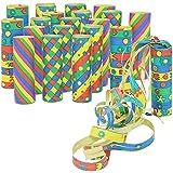 COM-FOUR 20x Rollen Party Deko Luftschlangen in verschiedenen Mustern für z.B. Geburtstage oder Silvester (20 Stück - Muster Mix)