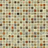HSFP Bunte Mosaik mit Fliesenmuster Selbstklebende Tapeten Peel-Stick Bad wasserdicht Küche Vinyl-Tapete