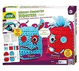 Lena 42522 - Bastelset Häkelset Happy Monsters für 2 Stück