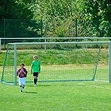Jugend - Fußballtornetz 5,15 x 2,05 m Tiefe oben 1,00 / unten 1,00 m, PP 3 mm ø, knotenlos, grün