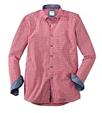 OLYMP Hemd Trachtenhemd Level 5 Body Fit rot/Weiss, Größe M
