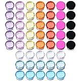 50 Stück Plastik Döschen Leerer Kosmetikbehälter mit Deckel für Cremes Muster Makeup Speicher, 5 g, 10 Farben