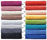 Super saugfähige Handtuch Serie Venecia, Waschhandschuh, Waschlappen, Gästetuch, Duschtuch, Badetuch - (6 x Seiflappen, 065 petrol)