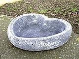 Garten Deko Grabschmuck ' Pflanzschale HERZ groß *, massiver Steinguss, frostfest bis -30°C