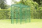 Voliere, Außenvoliere 2 (200 x 102 x 180 cm) , komplett Grün pulverbeschichtet, Katzengehege, Hühnerstal, Hasenstall, Kleintierstall
