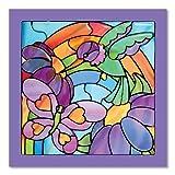 Melissa & Doug - 14264 - Glasmalerei Ganz Leicht! - Regenbogengarten