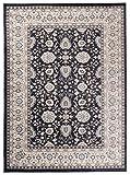 Tapiso Colorado Teppich Wohnzimmer Klassisch Kurzflor Orientalisch Schwarz Creme Beige Floral Ziegler Ornament Muster Orientteppich ÖKOTEX 200 x 300 cm