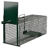 Moorland Safe 5001 Lebend-Falle 60x23x23cm als Marder-Falle, Katzen-Falle, Fuchs-Falle, Ratten-Falle mit Falltür