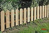 4x Steckzaun 120 x 30 cm Gartenzaun Holz Zaun Beetbegrenzung Lattenzaun