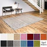 Shaggy-Teppich | Flauschige Hochflor Teppiche für Wohnzimmer Küche Flur Schlafzimmer oder Kinderzimmer | Einfarbig, schadstoffgeprüft, allergikergeeignet (Creme, 200 x 250 cm)