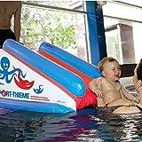 Sport-Thieme Baby Wasserrutsche | Aufblasbare Wasserrutschbahn mit sechs Luftkammern | Für Babies, Säuglinge, Kinder ab 6 Monaten | Sicher, Weich, Robust | 130x70x60 cm | PVC-Folie | Markenqualität