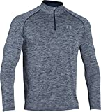 Under Armour Herren Fitness Sweatshirt UA Tech 1/4 Zip, Blau (Midnight Navy Heather), L, 1242220-411