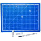 SBS Schneidmatte blau A4 30 x 22 cm + Bastelmesser + 10 Ersatzklingen gratis SB429.3