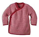 Disana Melange-Jacke aus Merino-Schurwollstrick kbT für Babys (74/80, Rot)