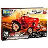 Porsche Diesel Junior Traktor Rot 07820 Bausatz Kit 1/24 Revell Modell Auto mit individiuellem Wunschkennzeichen