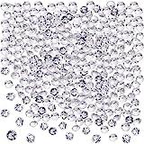 Blulu 2000 Stück 6 mm Plexiglas Diamant Streuung Diamantkristalle Dekosteine Hochzeit Crystal Tisch Confetti Tischschmuck Tischdeko