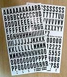 Buchstaben und Zahlen zum Aufkleben, Schwarz auf Weiß, Vinyl, wasserfest, für Schilder, Fahrzeuge, Boote, Poster und Schulprojekte, 234er Packung, 25 mm