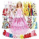 Eligara Puppen Kleidung Puppenkleidung Puppen Schuhe Set Puppen Klamotten Party Kleider Puppen Zubehoer 21PCS