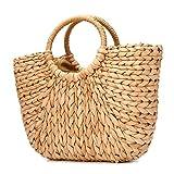 Sommer Strand Tasche, JOSEKO Damen Stroh Handtasche Sommer Schulter Tasche zum Strand Reise und Täglicher Gebrauch